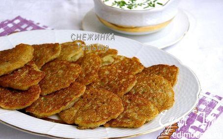Рецепт Заварные картофельные оладьи (Аладкі бульбяныя, заварныя)