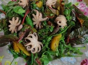 Салат с мини-осьминожками