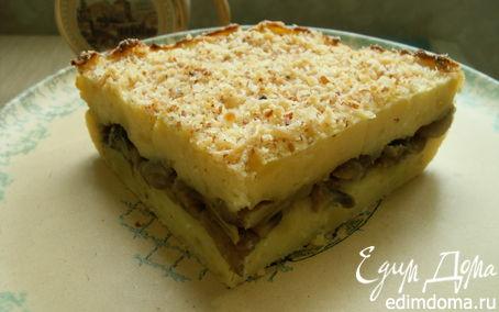Рецепт Картофельная запеканка с грибами, пармезаном и миндалем