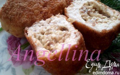 Рецепт Куриные зразы с сыром и грецкими орехами