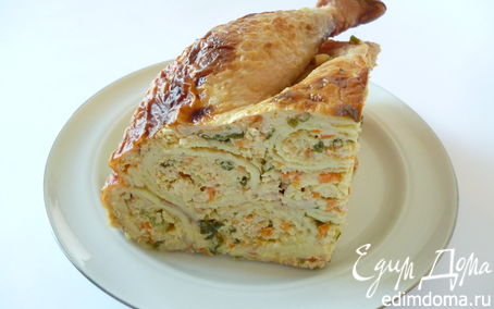 Рецепт Курица, фаршированная блинами (мой вариант)