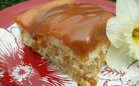 Рецепт Деревенский пирог с кедровыми орешками и сливочной карамелью (без муки)