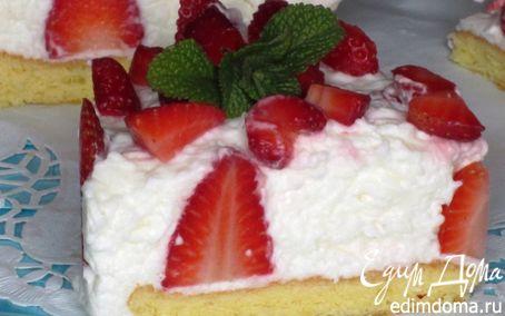 Рецепт Клубничный торт с йогуртовым муссом
