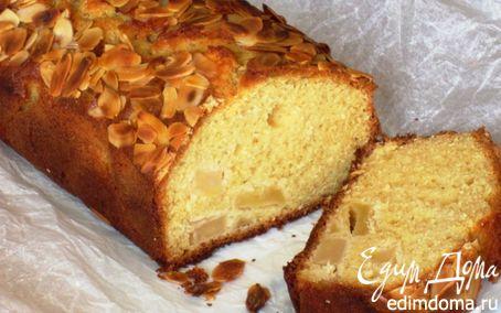 Рецепт Яблочный кекс с миндальными лепестками и Кальвадосом