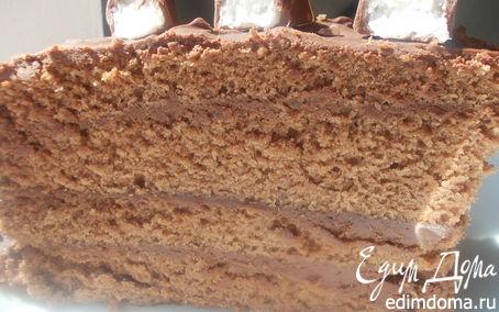 Рецепт Шоколадный торт со сливками домашнего приготовления