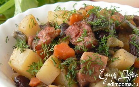 Рецепт Тушеное мясо с овощами и красной фасолью