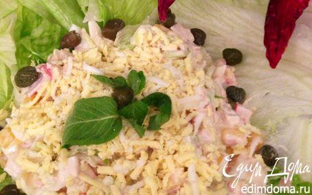 Рецепт Салат с тунцом и крабовыми палочками