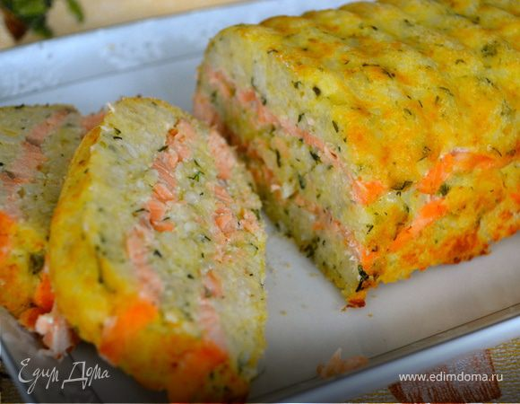 Рисовая запеканка с лососем (Sformato di Salmone e Riso)
