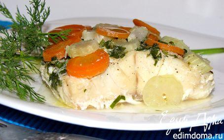 Рецепт Палтус с овощами, запеченный в фольге