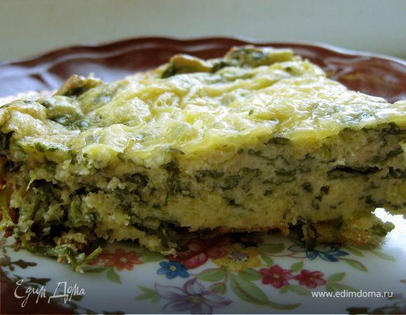 Запеканка со шпинатом, рикоттой и полентой + рецепт домашней рикотты