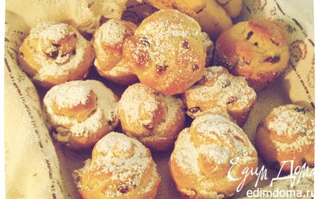 Рецепт Ароматные булочки с изюмом