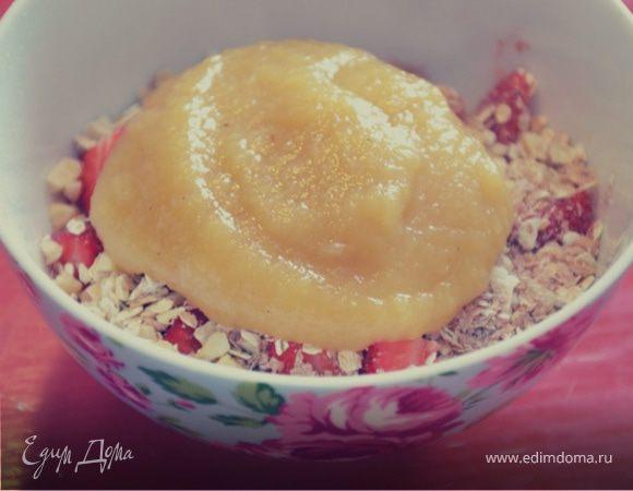 Очень легкий яблочный десерт с манго