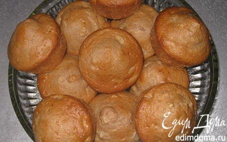 Рецепт Маффины на кислом молоке с яблоками