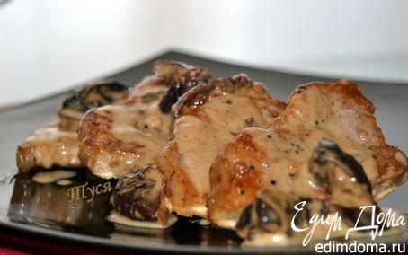 Рецепт Свиные медальоны с соусом из чернослива