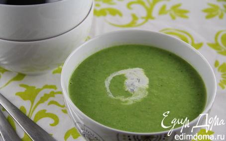 Рецепт Очень овощной суп-пюре из зеленого горошка