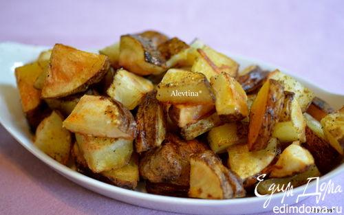 Рецепт Пряный картофель в духовке
