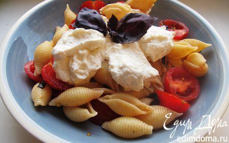 Рецепт Салат с ракушками и рикоттой