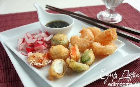 Рецепт Креветки и овощи в восточном стиле