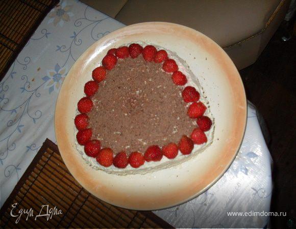бисквитно-творожный тортик
