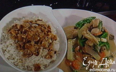 Рецепт Куриное фрикассе под ванильно-портвейным соусом