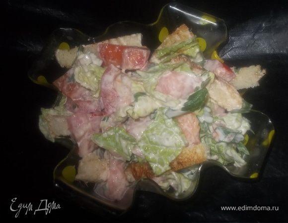 Легкий рыбный салатик