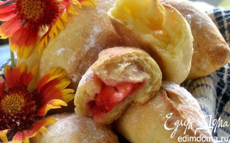 Рецепт Пирожки из творожного теста с двумя видами начинок