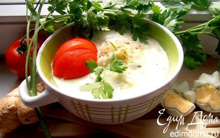 """Рецепт Облегченный огуречный супчик (""""Холодные супы"""")"""