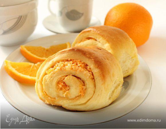 Булочки апельсиново-кокосовые