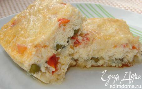 Рецепт Омлет с овощами и сыром в мультиварке в мультиварке
