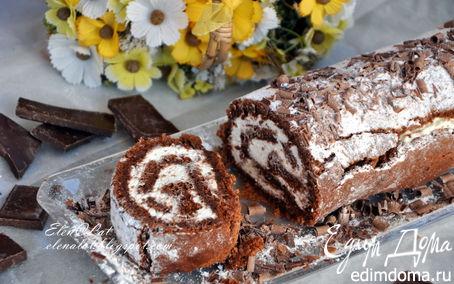 Рецепт Шоколадный рулет без муки