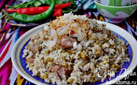 Рецепт Ароматная каша с машем, рисом и мясом