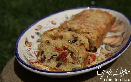 Рецепт Хлеб со спаржей, оливками и вялеными помидорами