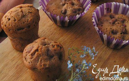 Рецепт Шоколадные кексы с ягодно-ревеневой начинкой