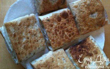 Рецепт Хрустящие конвертики из армянского лаваша на завтрак