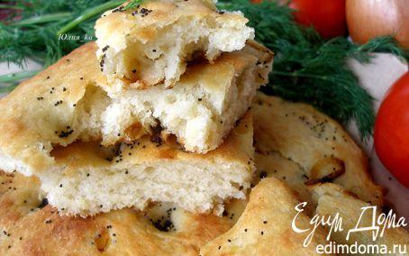 Рецепт Картофельная фокачча с жареным луком и маком