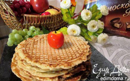 Рецепт Вафли с яблоком и корицей для вафельницы в вафельнице