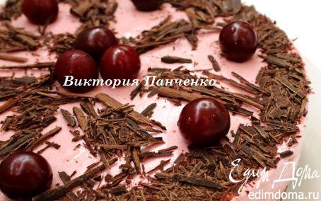 Рецепт Вишнево-шоколадный торт-мусс