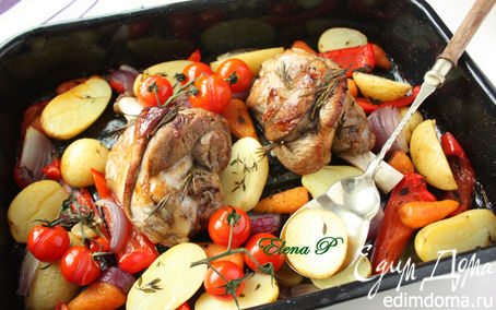 Рецепт Голени барашка с овощами
