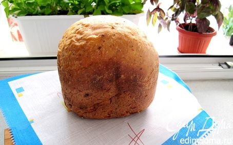 Рецепт Хлеб швейцарский из цельнозерновой муки с зеленым сыром в хлебопечке
