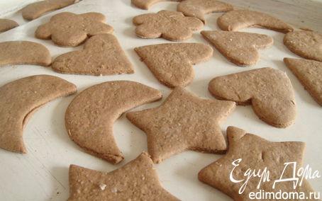 Рецепт Имбирное печенье с темной мукой