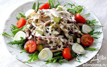 Рецепт Салат с языком и грибами
