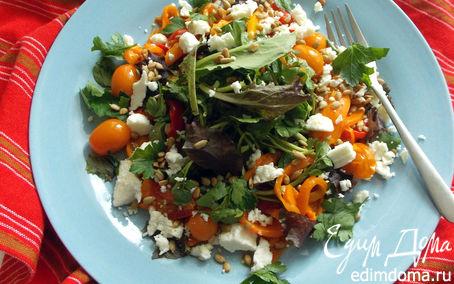 Рецепт Салат с запеченным сладким перцем, томатами и фетой