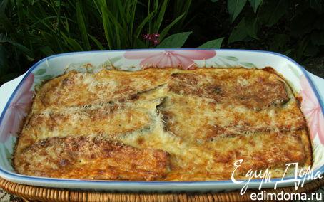 Рецепт запеканка из баклажанов под чесночно-базиликовым соусом