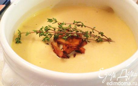 Рецепт крем-суп из Лисичек