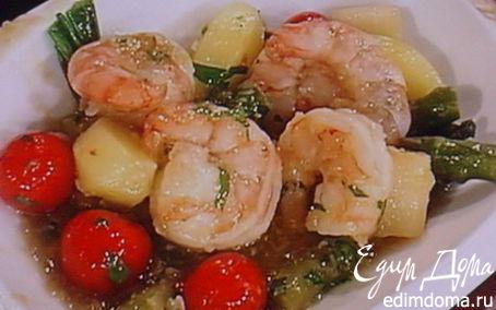 Рецепт Вок с весенними овощами и креветками