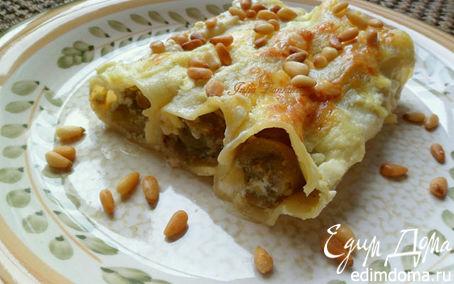 Рецепт Каннелони с баклажанами и кедровыми орешками (для Tatjana)