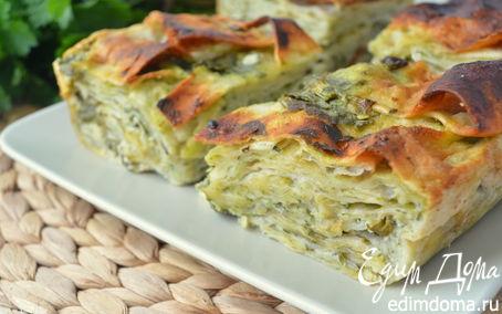 Рецепт Быстрая ачма из лаваша с молодым шпинатом и свежей зеленью