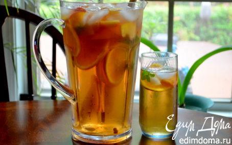 Рецепт Холодный чай с фруктами
