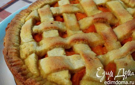 """Рецепт На скорую руку : пирог """"Песочная решетка"""" с абрикосами"""