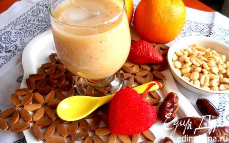 """Рецепт Банановый смузи с карамельным вкусом (""""Прохладительные напитки"""")"""